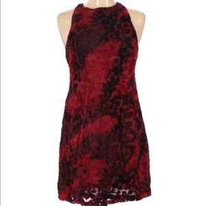 🌙 Revolve Somedays Lovin Red Burnout Velvet Dress